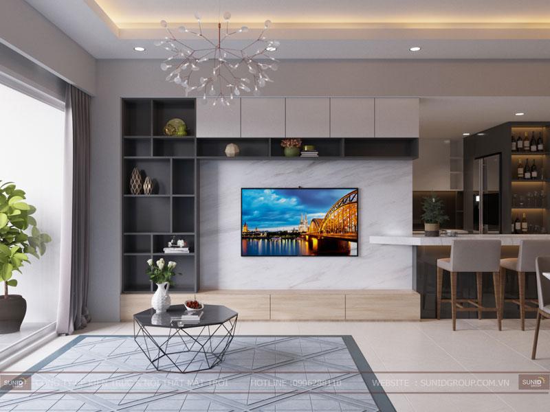 thiết kế nội thất chung cư hiện đại vincity tây mỗ 10