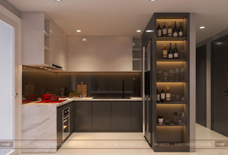 thiết kế nội thất chung cư hiện đại vincity tây mỗ 11