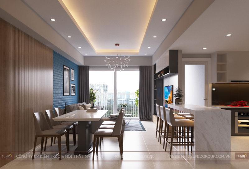thiết kế nội thất chung cư hiện đại vincity tây mỗ 9