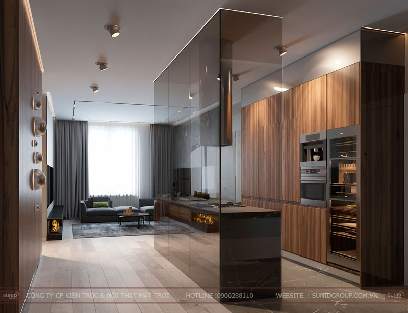 thiết kế nội thất chung cư việt đức complex hiện đại11