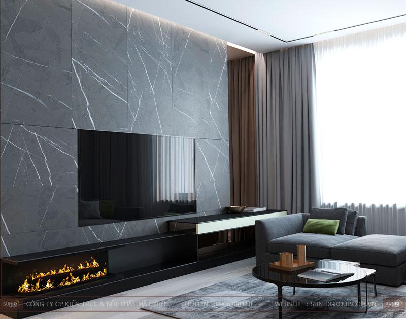 thiết kế nội thất chung cư việt đức complex hiện đại13