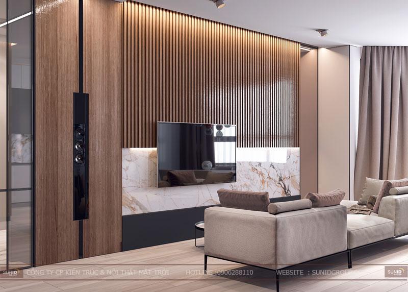 thiết kế nội thất chung cư việt đức complex hiện đại2