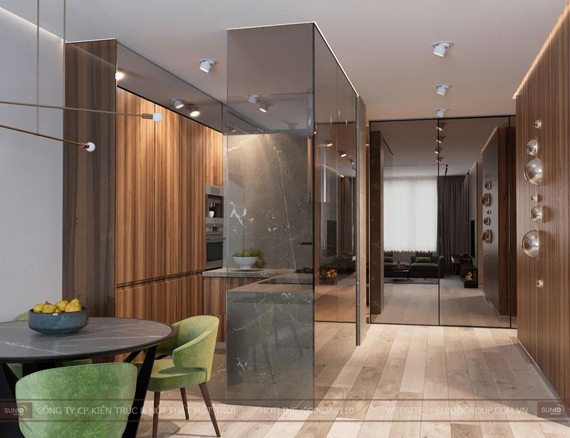 thiết kế nội thất chung cư việt đức complex hiện đại3