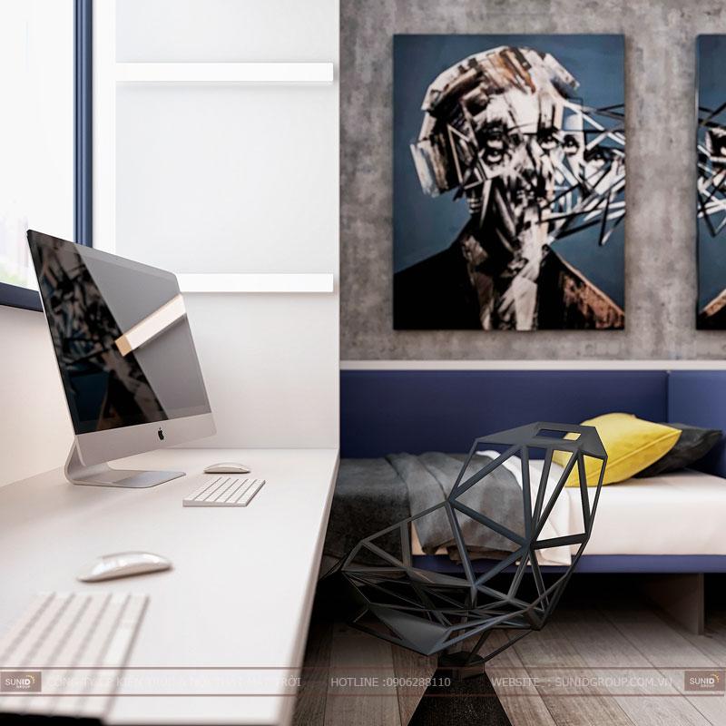 thiết kế nội thất chung cư việt đức complex hiện đại6