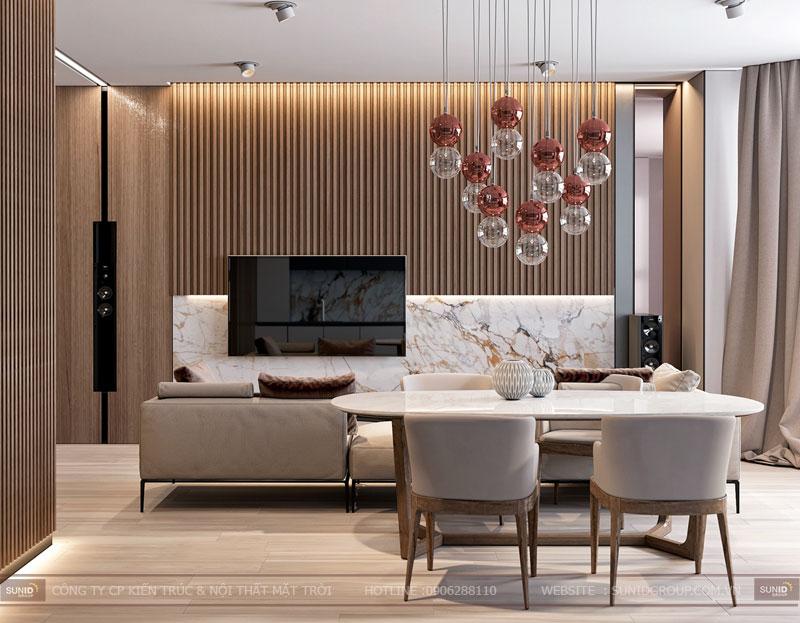 Thiết kế nội thất chung cư Việt Đức Complex phong cách hiện đại