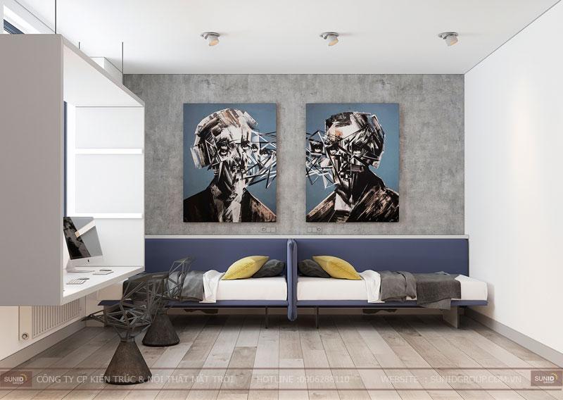 thiết kế nội thất chung cư việt đức complex hiện đại8