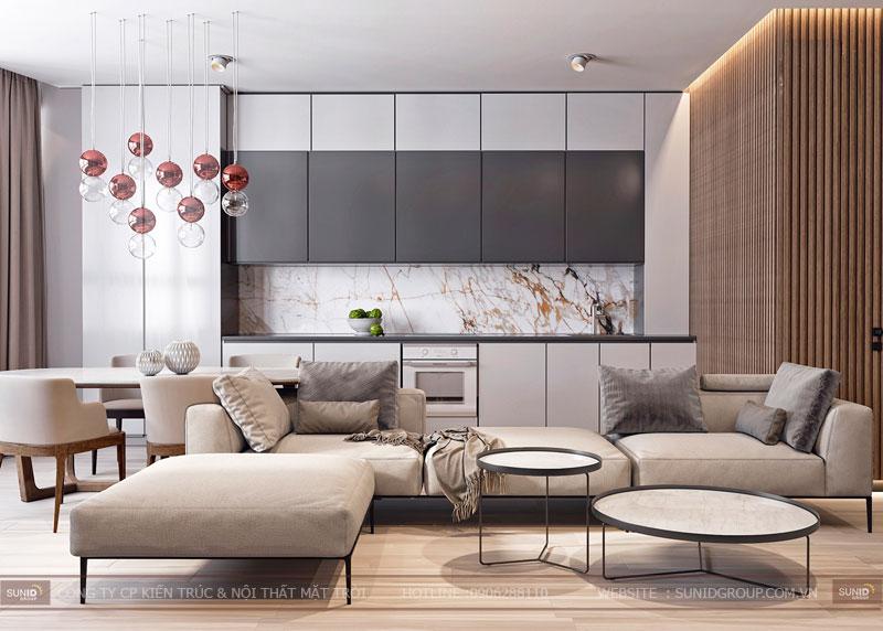 thiết kế nội thất chung cư việt đức complex hiện đại9