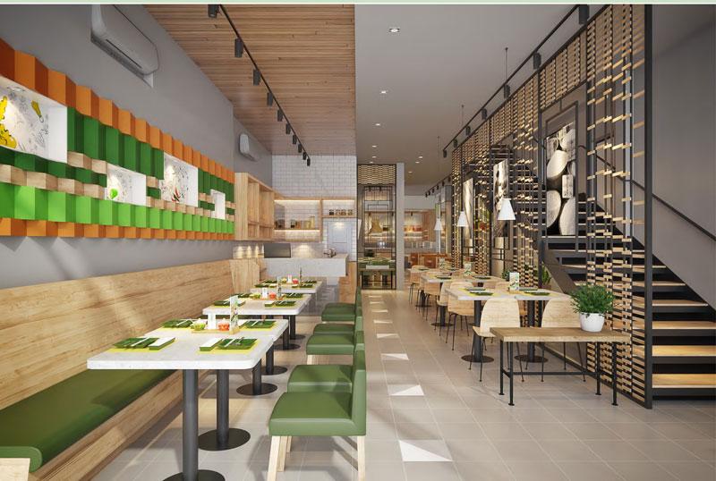 Thiết kế nội thất nhà hàng Fast foot hiện đại