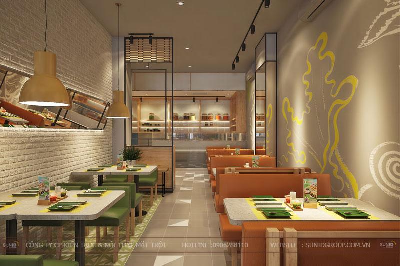 thiết kế nội thất nhà hàng fast foot hiện đại10