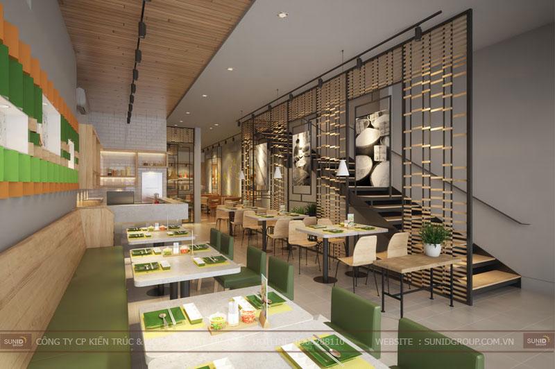 thiết kế nội thất nhà hàng fast foot hiện đại11