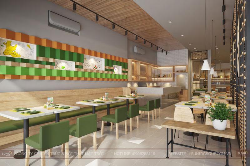thiết kế nội thất nhà hàng fast foot hiện đại12