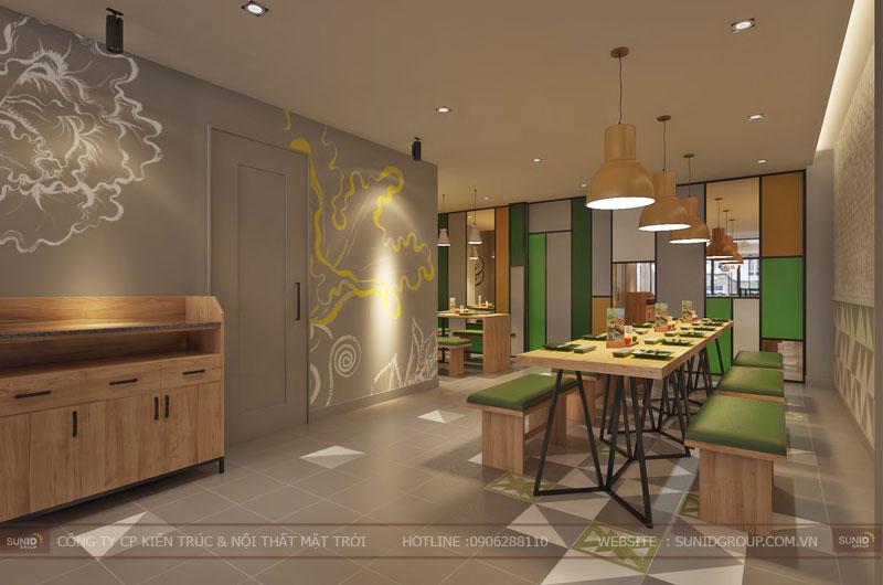 thiết kế nội thất nhà hàng fast foot hiện đại13