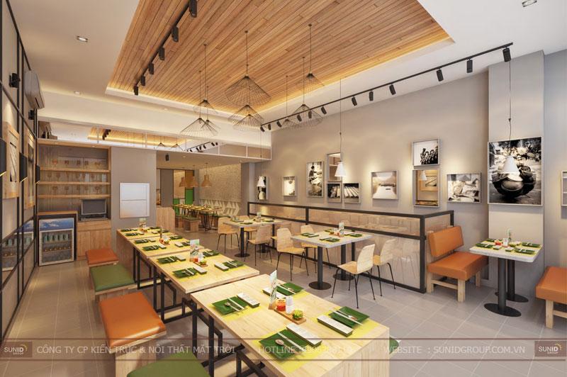 thiết kế nội thất nhà hàng fast foot hiện đại2