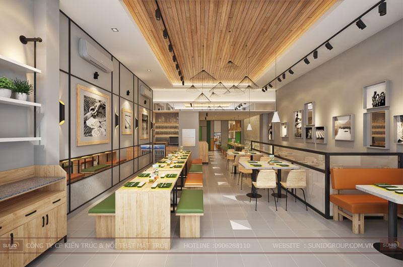 thiết kế nội thất nhà hàng fast foot hiện đại3