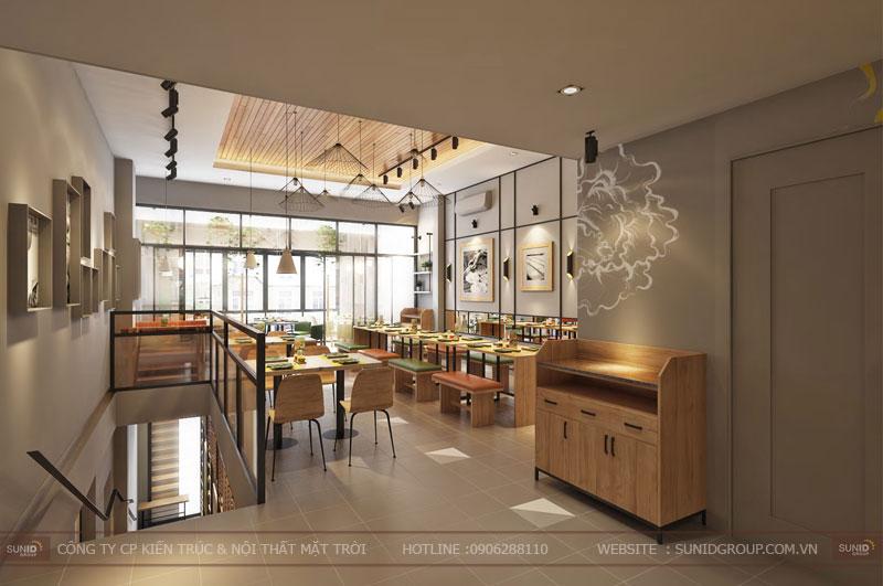 thiết kế nội thất nhà hàng fast foot hiện đại4