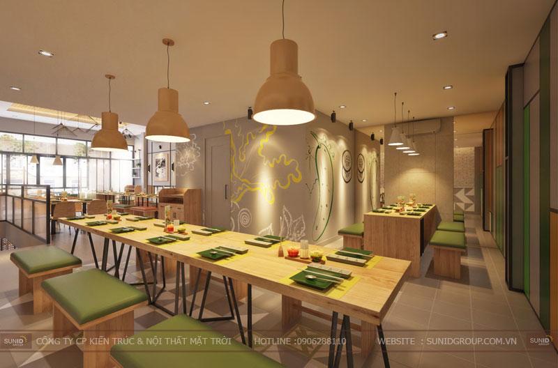 thiết kế nội thất nhà hàng fast foot hiện đại5