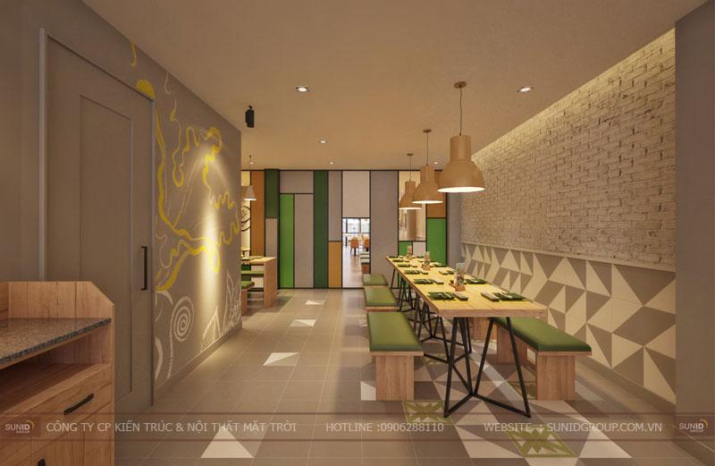thiết kế nội thất nhà hàng fast foot hiện đại6