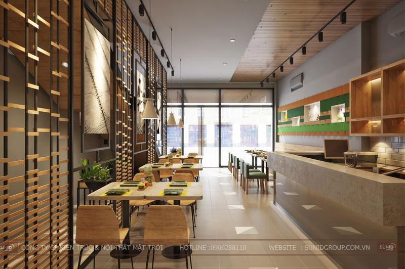 thiết kế nội thất nhà hàng fast foot hiện đại7
