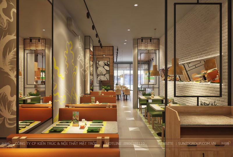 thiết kế nội thất nhà hàng fast foot hiện đại8