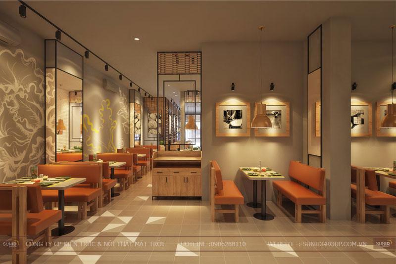 thiết kế nội thất nhà hàng fast foot hiện đại9