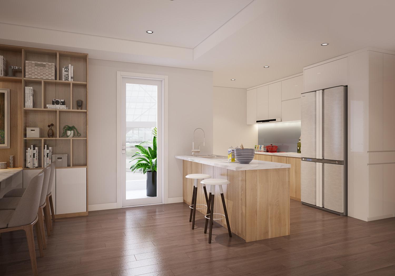 thiết kế nội thất chung cư 100m210