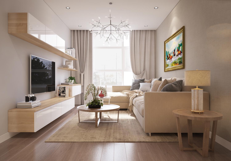 Thiết kế nội thất chung cư 100 m2 với 3 phòng ngủ