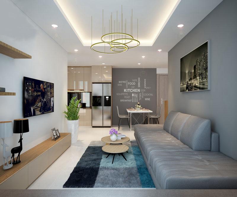 Thiết kế nội thất chung cư hiện đại 75 mét vuông