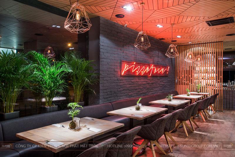 thiết kế nhà hàng thức ăn nhanh cafe 1