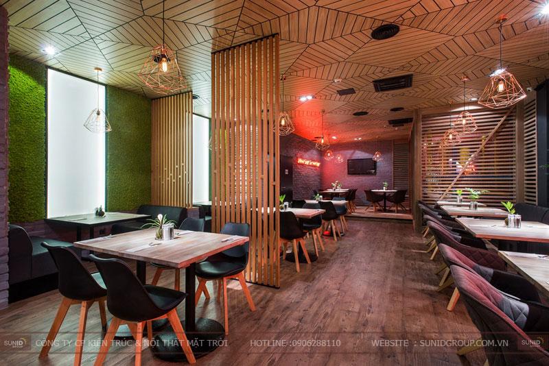 thiết kế nhà hàng thức ăn nhanh cafe 12