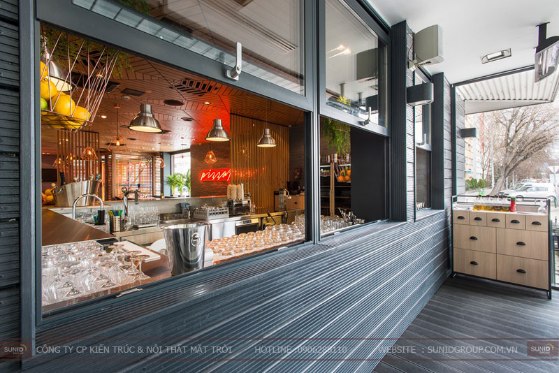 thiết kế nhà hàng thức ăn nhanh cafe 14