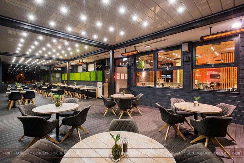 thiết kế nhà hàng thức ăn nhanh cafe 16