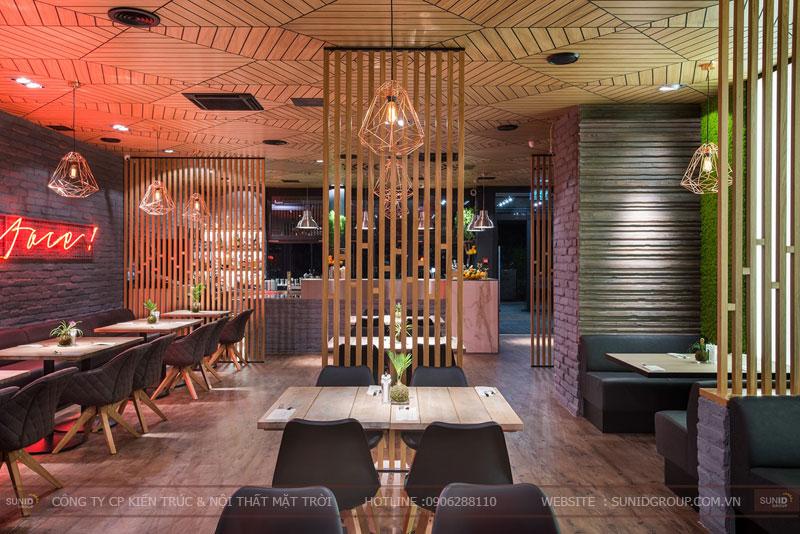 thiết kế nhà hàng thức ăn nhanh cafe 19