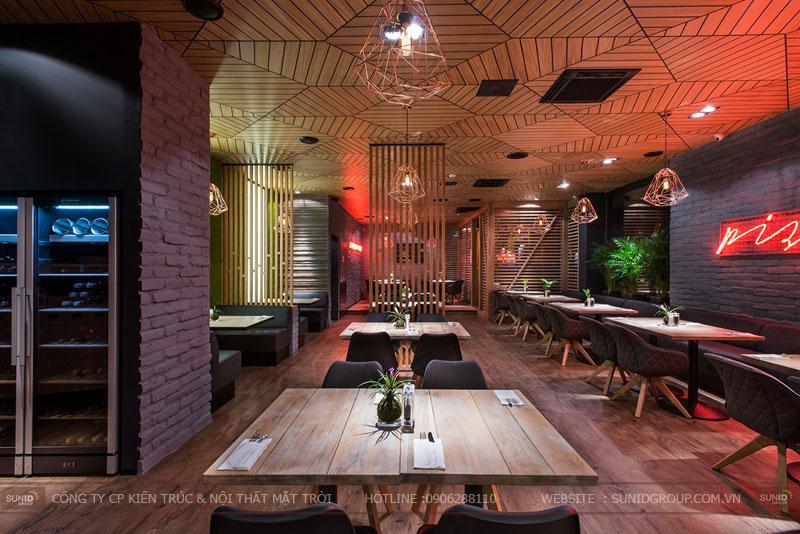 thiết kế nhà hàng thức ăn nhanh cafe 20