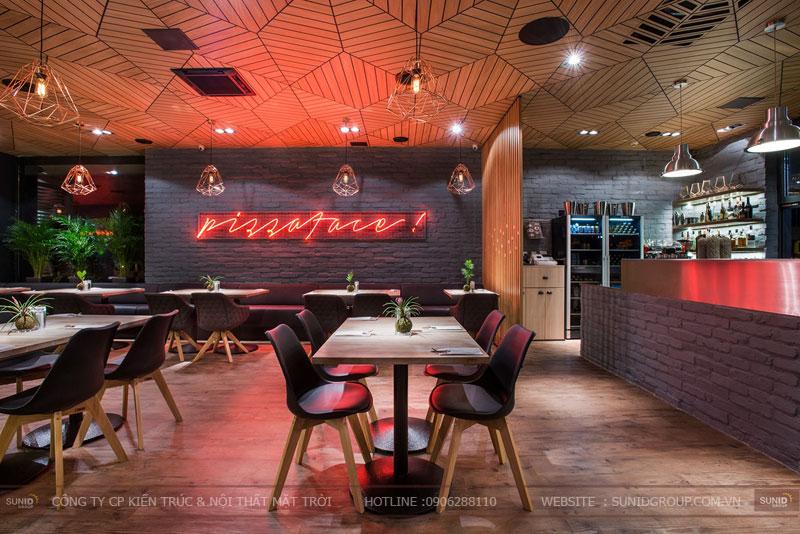 thiết kế nhà hàng thức ăn nhanh cafe 24