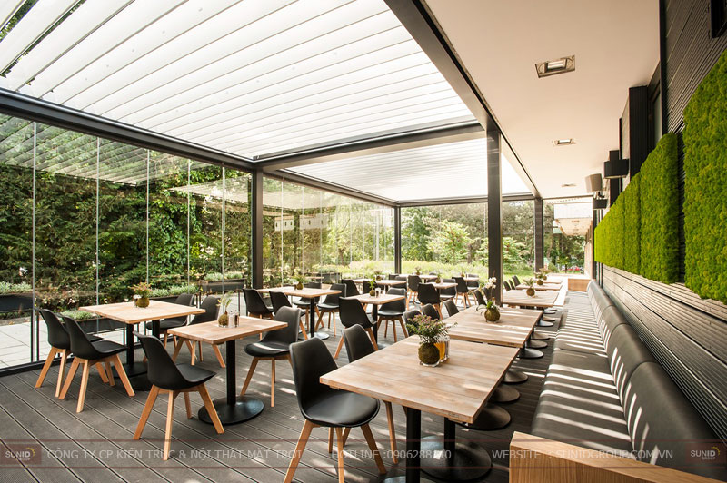 Thiết kế nội thất nhà hàng thức ăn nhanh kết hợp cafe