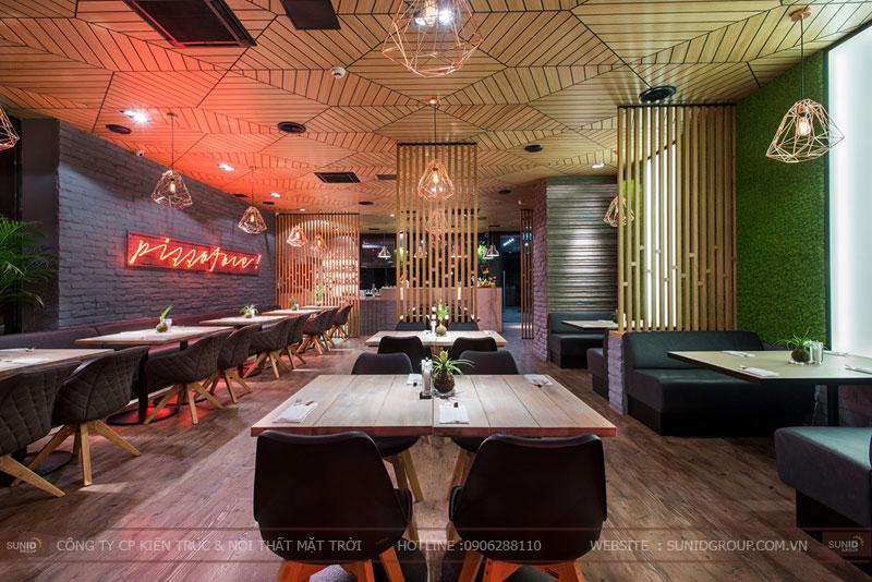thiết kế nhà hàng thức ăn nhanh cafe 9