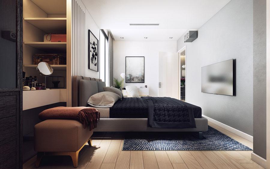 thiết kế nội thất chung cư 50 mét vuông 2 phòng ngủ ảnh 10