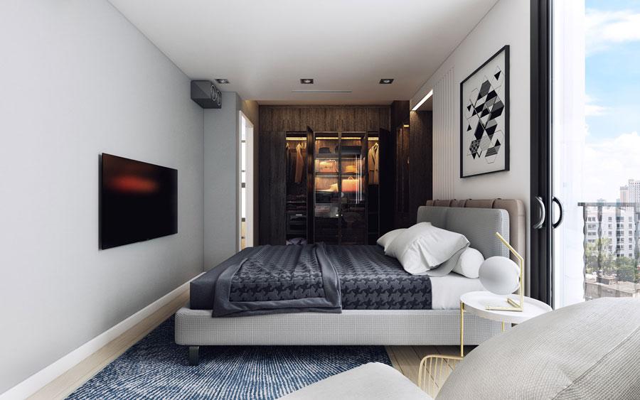 thiết kế nội thất chung cư 50 mét vuông 2 phòng ngủ ảnh 11