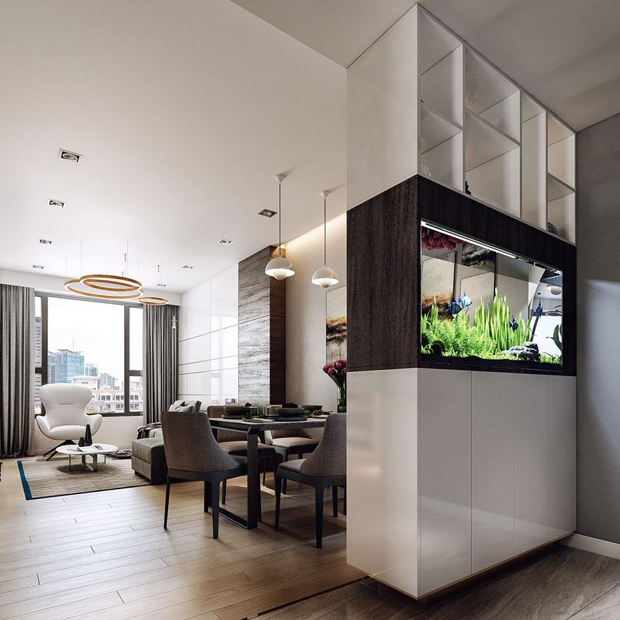 thiết kế nội thất chung cư 50 mét vuông 2 phòng ngủ ảnh 12