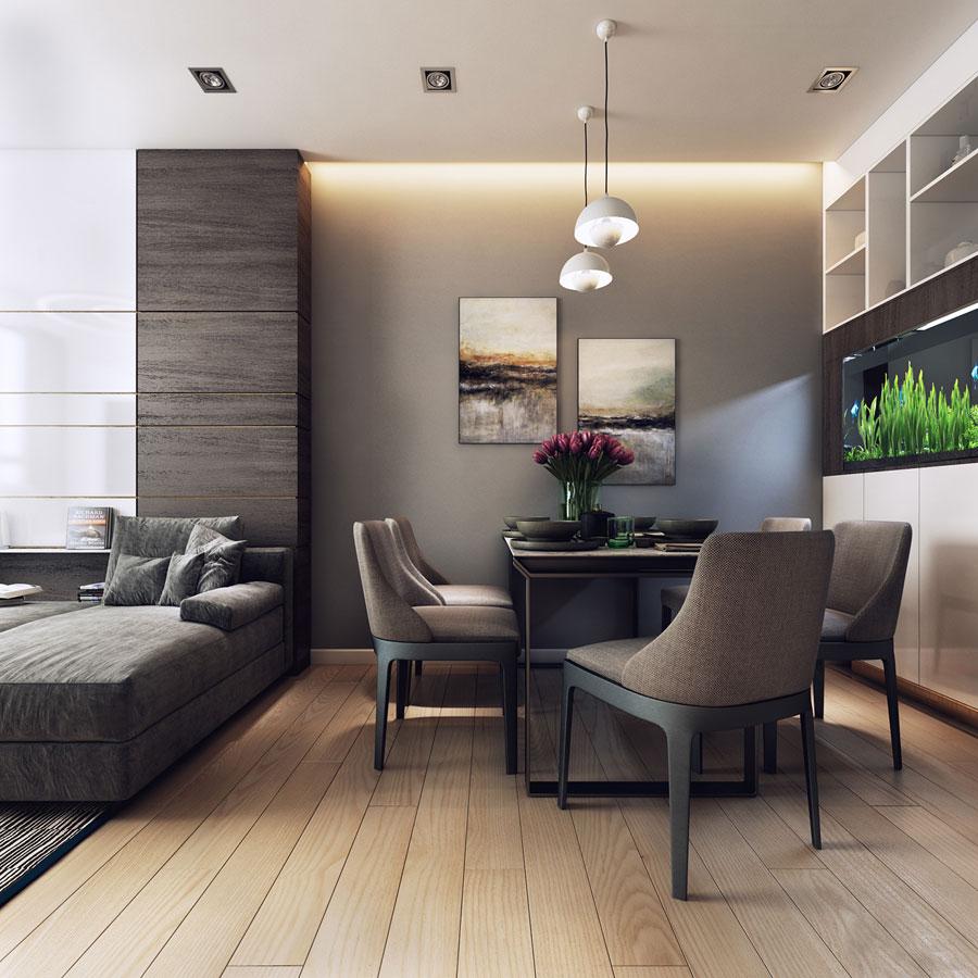 thiết kế nội thất chung cư 50 mét vuông 2 phòng ngủ ảnh 13