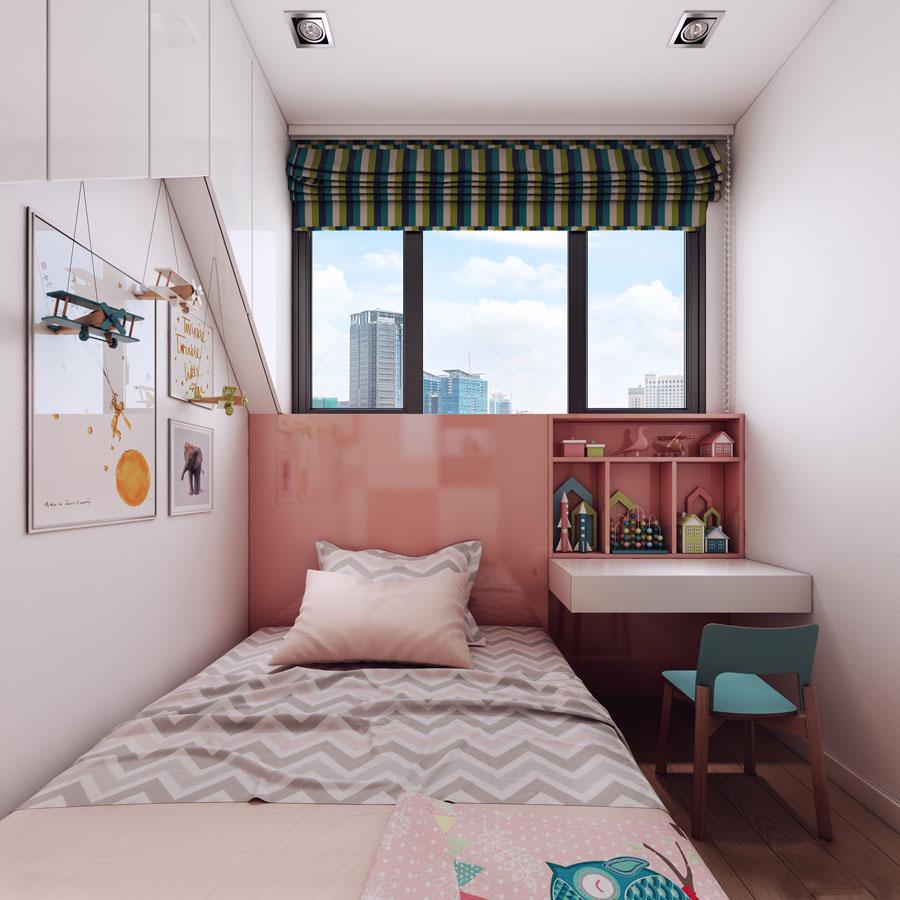 thiết kế nội thất chung cư 50 mét vuông 2 phòng ngủ ảnh 2