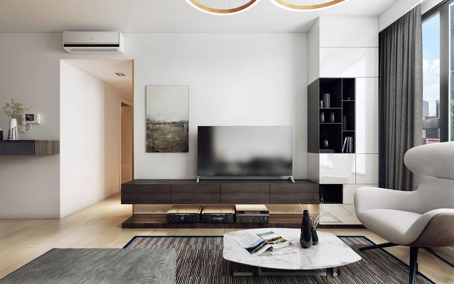 thiết kế nội thất chung cư 50 mét vuông 2 phòng ngủ ảnh 4