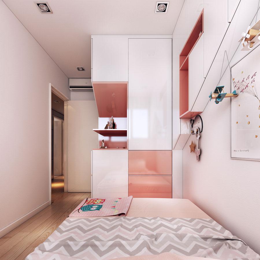 thiết kế nội thất chung cư 50 mét vuông 2 phòng ngủ ảnh 6
