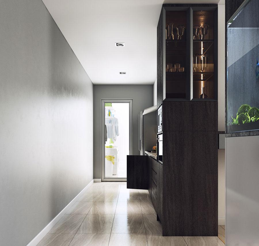 thiết kế nội thất chung cư 50 mét vuông 2 phòng ngủ ảnh 8