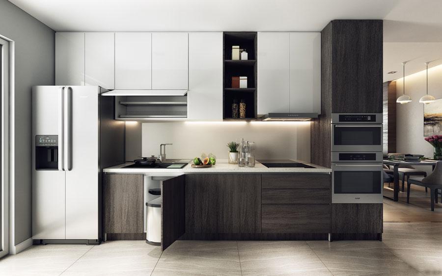 thiết kế nội thất chung cư 50 mét vuông 2 phòng ngủ ảnh 9