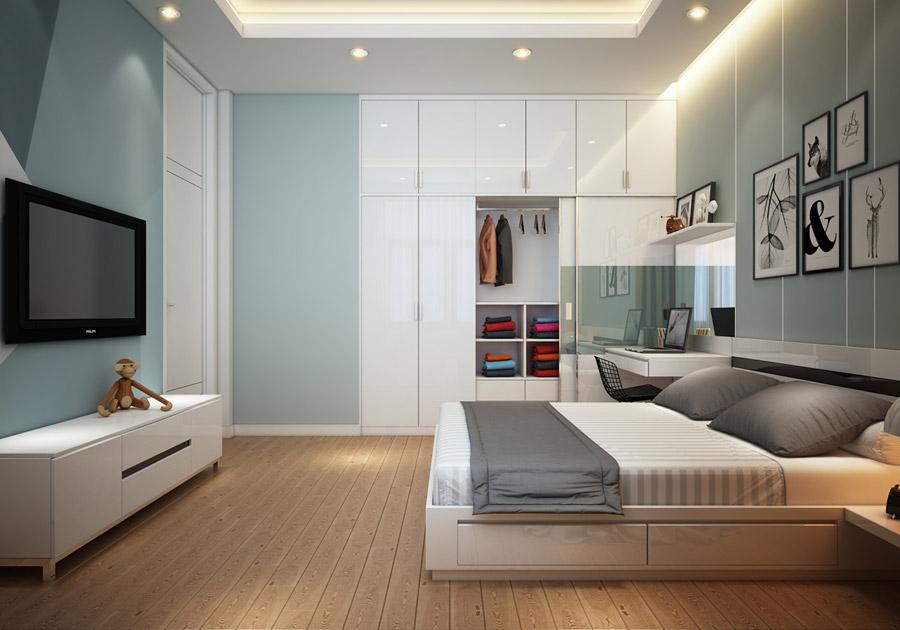 Thiết kế kiến trúc nhà phố 2 tầng 3 phòng ngủ ảnh 4