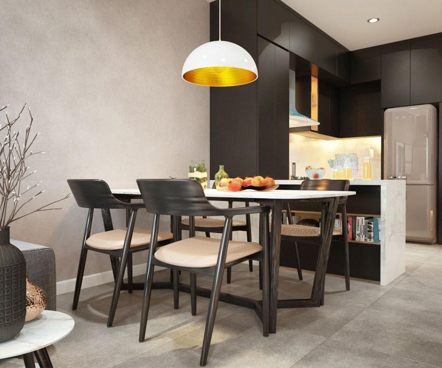 thiết kế nội thất chung cư 45 mét vuông ảnh 11