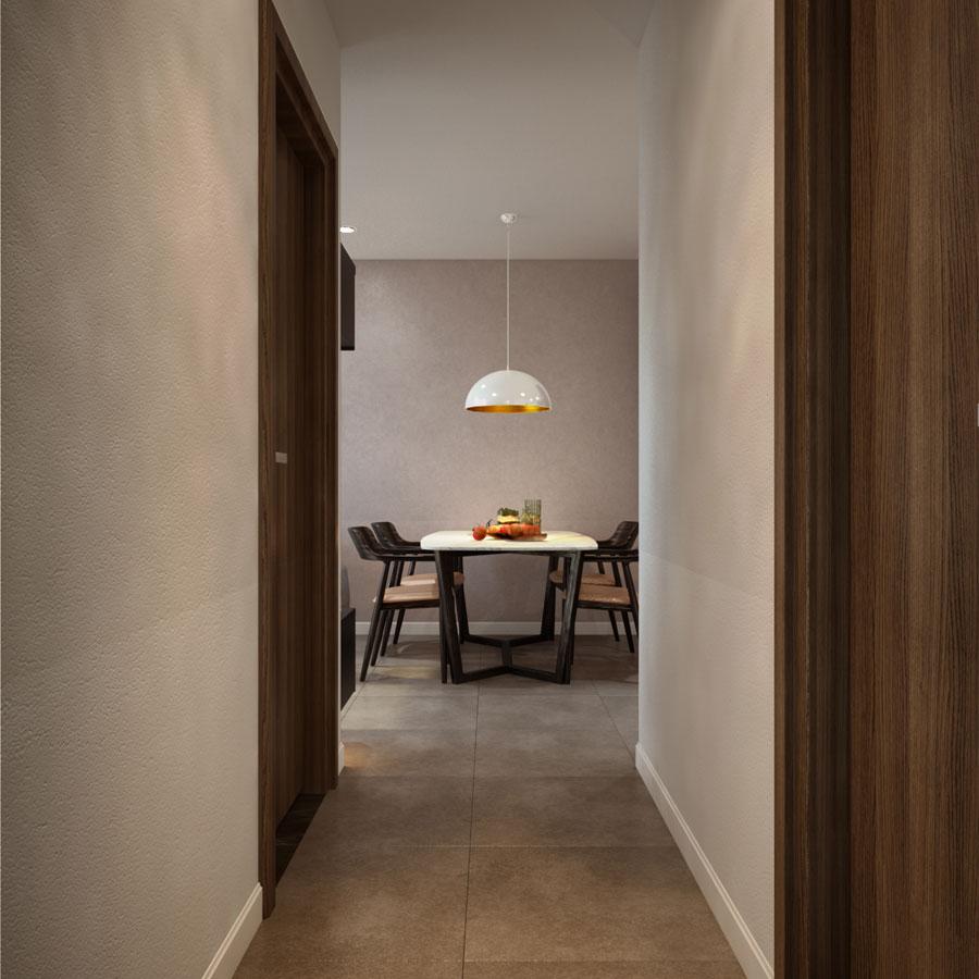 thiết kế nội thất chung cư 45 mét vuông ảnh 3
