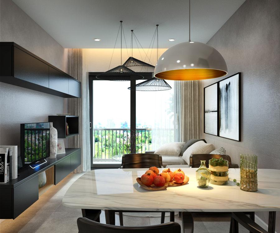 thiết kế nội thất chung cư 45 mét vuông ảnh 5