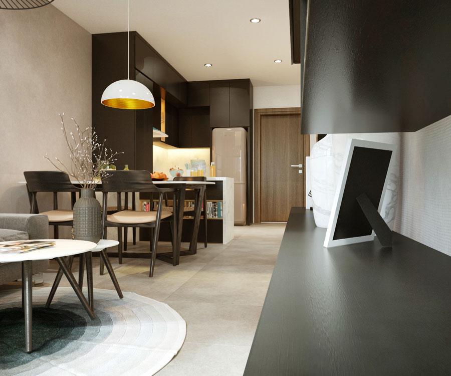 thiết kế nội thất chung cư 45 mét vuông ảnh 6